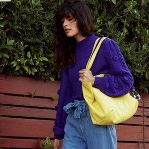 Maeve | Kiara Textured Bobble Sleeve Sweater